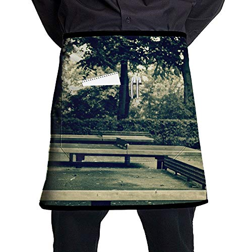Kjiurhfyheuij Half Short Aprons Table Tennis Ping Pong Waist Apron with Pockets Kitchen Restaurant for Women Men - Pingpong Server