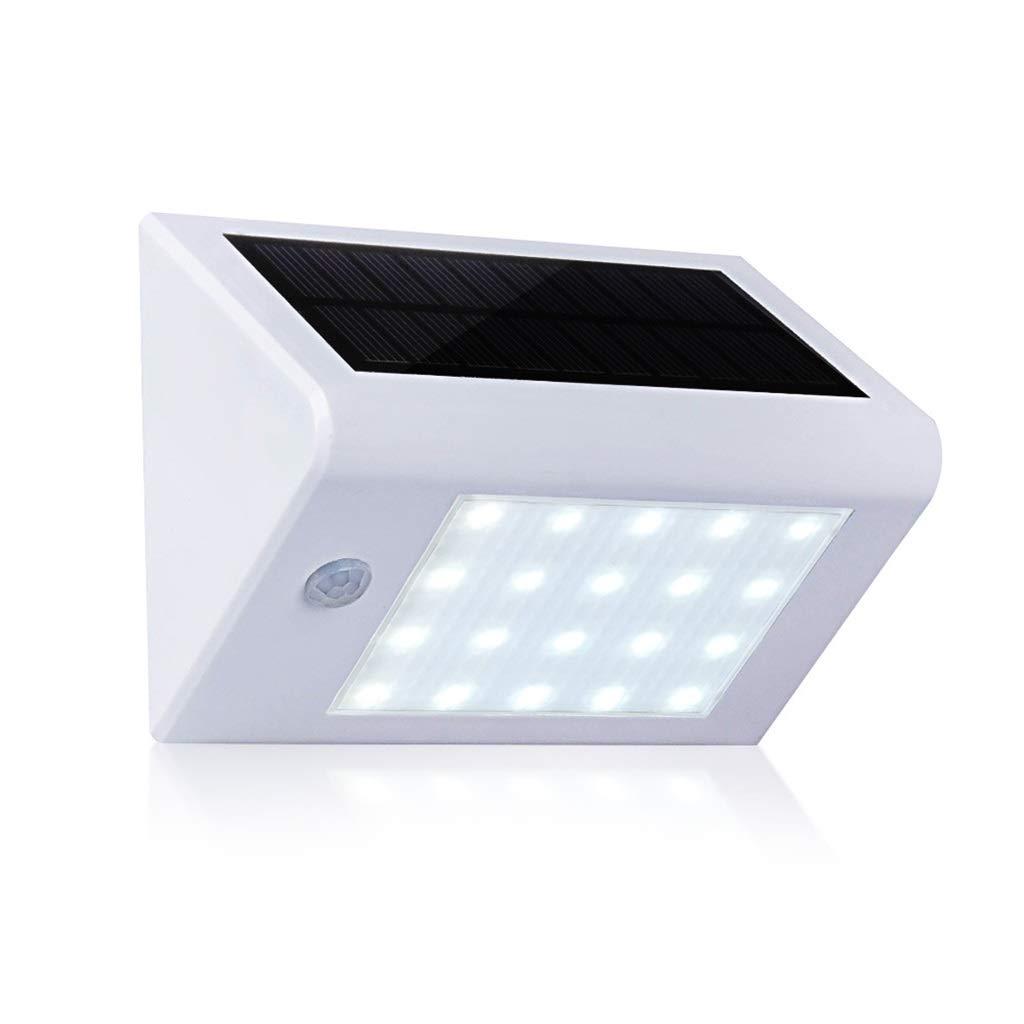YNEQHOSJB Luce Solare Esterna, 20 LED Luce di Sicurezza Solare Sensore di Movimento Wireless Impermeabile IP65 Applique con 2 modalità Smart per Giardino, Passaggio, Strada privata, Cortile