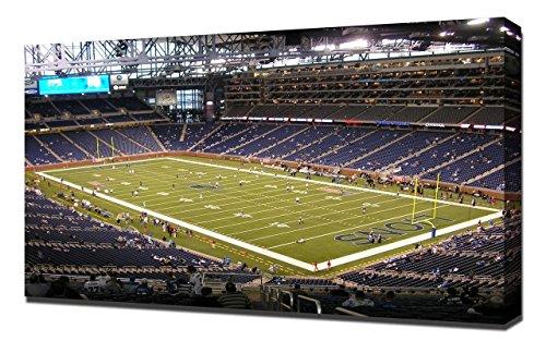 Lilarama USA Detroit Lions Ford Field Stadium 2 - Canvas Art Print - Wall Art - Canvas Wrap