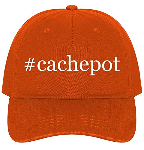 The Town Butler #Cachepot - A Nice Comfortable Adjustable Hashtag Dad Hat Cap, Orange, One Size