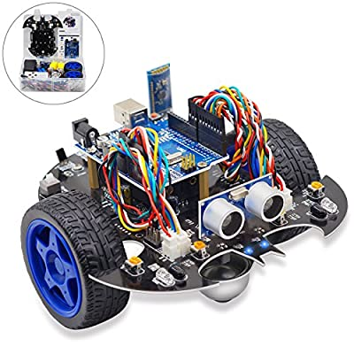 Yahboom UNO R3 Smart Robot Project Super Starter Learning Kit DIY Programmable Robotice Toy Car Based on Scratch 3.0 for Kids & Adults