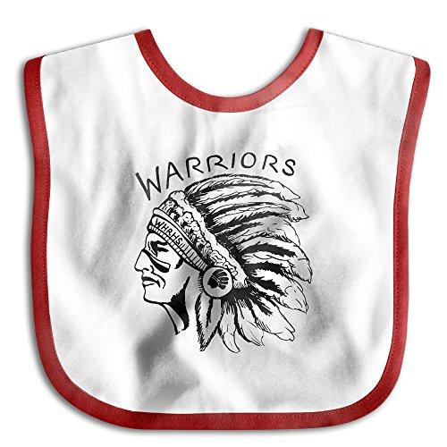 Native Indian Warrior Head Baby Boys Girls Teething Bib