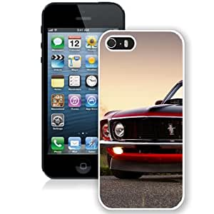 NEW Unique Custom Designed iPhone 5S Phone Case With Red Ford Mustang Boss 302_White Phone Case