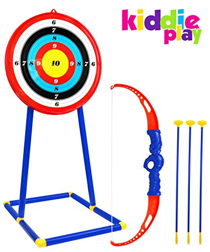 Kiddie Play Toy Archery Set for Kids with Target Bow and Arrow Kids Toys Age 5, 6, 7, 8, 9 Years Old Boys and Girls -