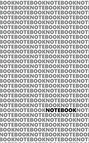Notebook: (White Grey Edition) Fun notebook 96 ruled/lined pages (5x8 inches / 12.7x20.3cm / Junior Legal Pad / Nearly A5)