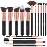 EmaxDesign Makeup Brushes 17 Pieces Premium Synthetic Foundation Brush Powder Blending Blush Concealer Eye Face Liquid Powder Cream...