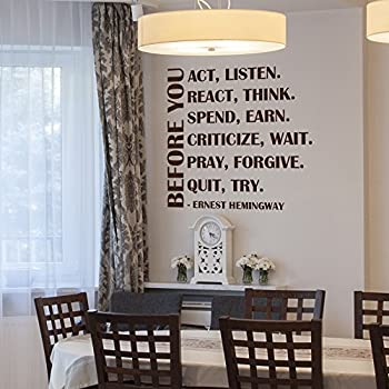 Amazoncom Life Mottos Vinyl Wall Lettering Stickers Quotes And - Dining room vinyl wall quotes
