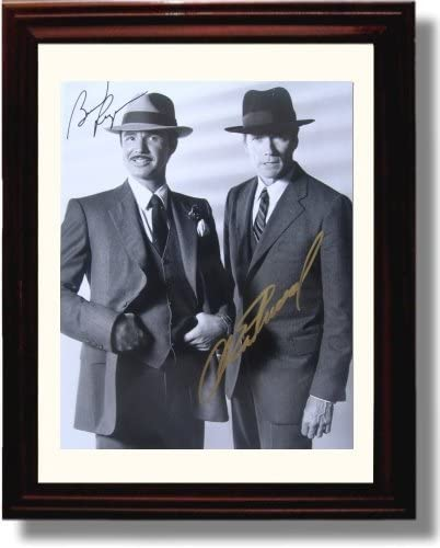Desktop Frame Clint Eastwood and Burt Reynolds Autograph Replica Print Portrait
