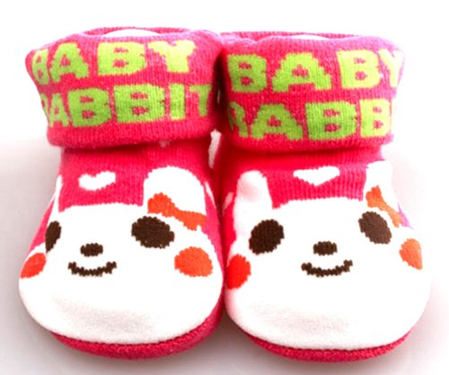 1 x Red Cartoon Cotton Baby Socks Newborn Slip-resistant Socks DDStore