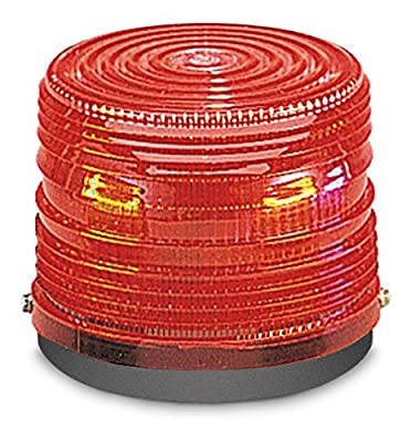 Federal Signal 141ST-120R Electra Flash Strobe Warning Light, Single Flash, Surface or Pipe Mount, 120 VAC, Red