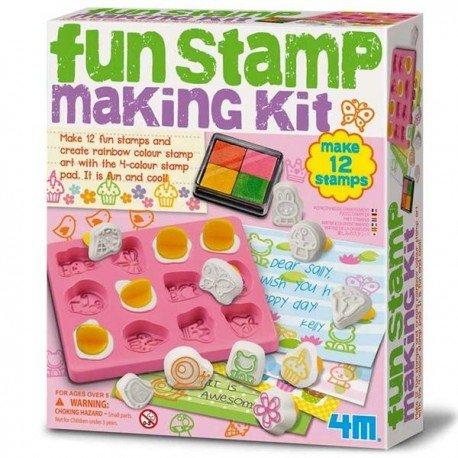 KIT DE MOLDES marca 4M para fabricar SELLOS ESTAMPACION Juego creativo de manualidades Niños +5 años: Amazon.es: Juguetes y juegos