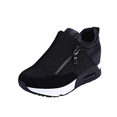 c66754a738b0a 💋 Mysky Women Fashion Sneakers Sports Running Hiking Thick Bottom Platform  Shoes