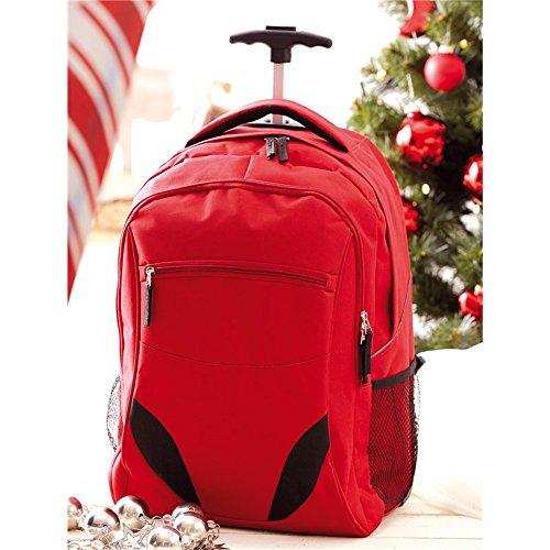 Rucksack Trolley Rot gepolstertem Laptopfach 34x52x28cm