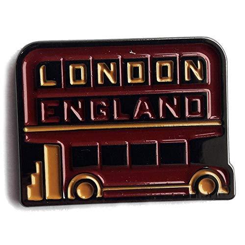 VAGABOND HEART London England Enamel Pin - Great London souvenir, featuring double decker bus