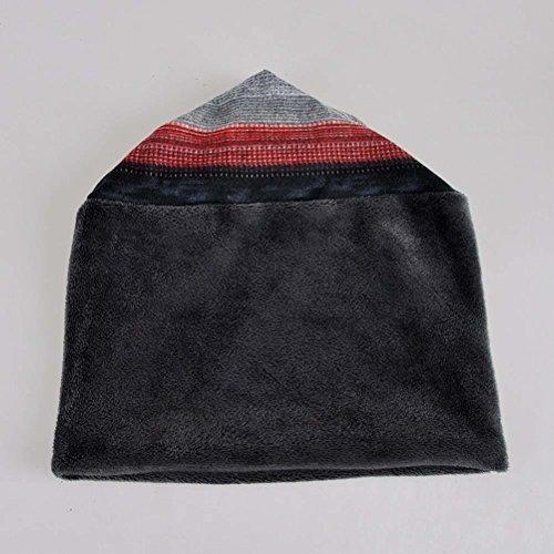 Unisex Puede Bufanda Rayas Slouch Utilizar Red Gorro Se ES Caliente LYL Circular como Una Beanie Sombrero Accesorios 8xqwfB6v