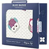 Blue Badge Company Wise Owl Design Disabled Parking Permit Wallet