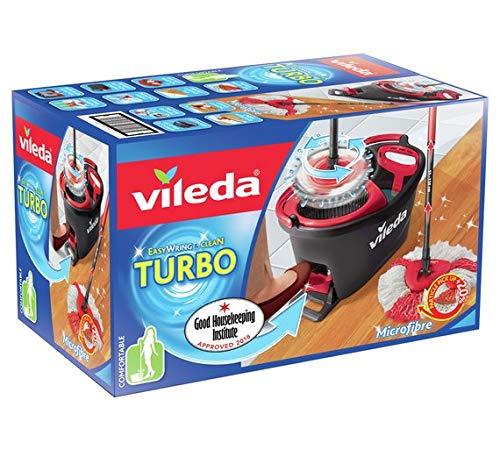 Vileda Easy Wring and Clean Turbo - Juego de fregona y Cubo: Amazon.es: Hogar