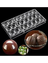 Dcrt Semi-Sphere Polycarbonate Chocolate Mold Candy Making Molds with 24-Piece Tray