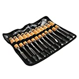 Professional Wood Carving Chisel Set - 12 Piece Sharp Woodworking Tools w/ Carrying Case - Great for Beginners by Tuma Crafts