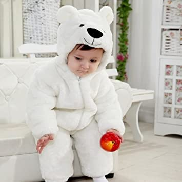 806b4d5cb Amazon.com  New Polar Bears Winter Onesies for Girls and Boys ...