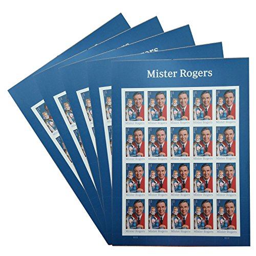 Mister Mr. Rogers 5 Sheets of 20 Forever USPS Postage Stamp Celebration Children Party (100 stamps) (Announcement Postage)