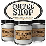 coffee candle - Scented Candles - Coffee Shop - Set of 3: Coffee Bean, Hazelnut, and Chai Tea - 3 x 4-Ounce Soy Candles - Each Votive Candle is Handmade in the USA with only the Best Fragrance Oils