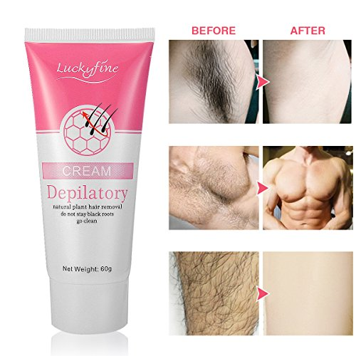 Hair Removal Depilatory Cream, LuckyFine Unisex Epilation Depilatory Cream, Painless Shave Cream for Women 60g
