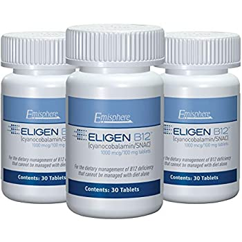 Image of Health and Household Eligen B12 Vitamin B-12 Tablets - 1000 mcg - Easy to Use - Clinically Proven to Be As Effective as Injections & Boosts Energy Level & Overall Health (3 Month Supply, 90 Count, Small Tablets)