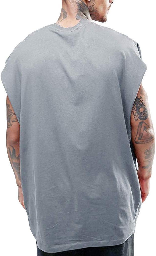 Canottiere Da Uomo T-Shirt Senza Maniche Canottiera Stile Hip-Hop Uomini Canotte Da Ginnastica Allenamento Canotte Tecnica Camicie Sportive Traspiranti Ragazzo Camicetta Sportiva Estiva Camicia Casual