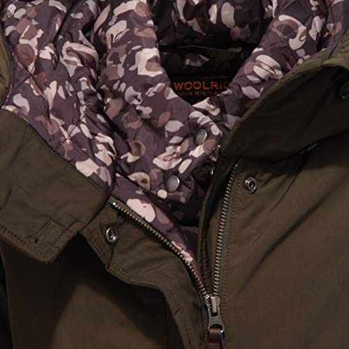 Jacket Bimba Dark Woolrich Green 6080x Piumino Marrone Girl Parka Eskimo wR8RqE
