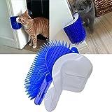 InnoPet Upgraded Version Cat Self Groomer with Catnip,Dog Cat Brush,Wall Corner Massage Comb,Grooming Brush.