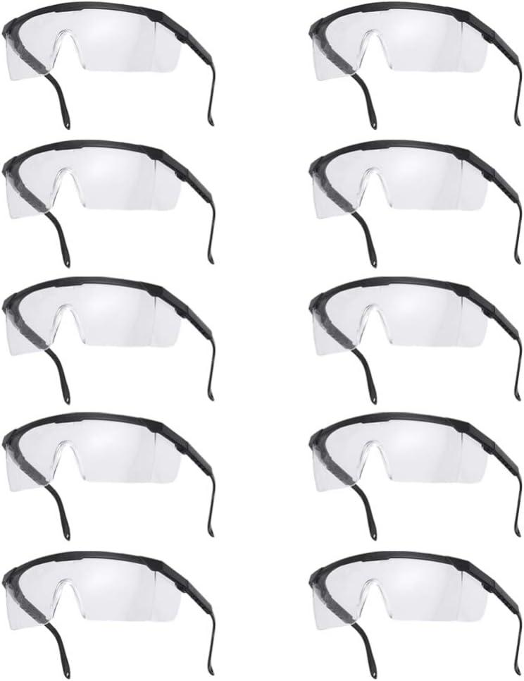 TOYANDONA 10 Piezas Gafas de Seguridad Gafas Protectoras Gafas Protectoras Médicas Gafas de Salpicadura Química Transparente Antipolvo para Protección Total de Los Ojos