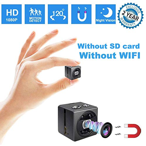 Mini Spy Hidden Camera – HD 1080P Portable Small Nanny Cam Surveillance Magnetic Security Camera with Night Vision/Motion Detection Perfect Indoor/Outdoor Surveillance Camera Home Car Office