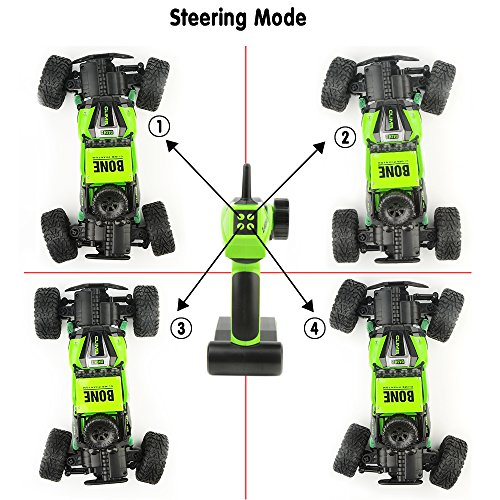 Gizmovine RC Rock Crawler Car 4WD 4 Modes Steering Waterproof 2.4Ghz Radio Control Toy Monster Truck Off Road (1/16 Scale)Green ZC0005-U2 Photo #7