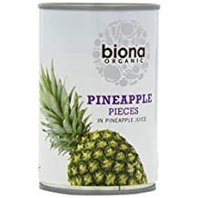 Biona Organic - Canned Fruit - Pineapple Pieces in Juice - 400g