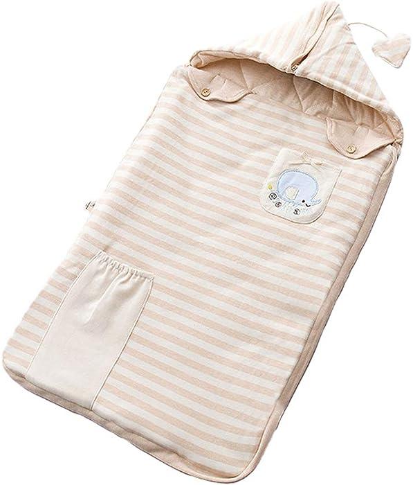 Zhhlinyuan Raya Botón Cremallera Niñito Acolchado Dormir Saco Algodón Bolso - Bebé Dormir Vestido Invierno Primavera Desmontable Capucha Sueño Bolso