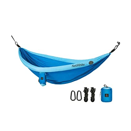 Kuqiqi Double Camping Hammock - Lightweight Nylon Portable Hammock, Best Parachute Double Hammock for Backpacking