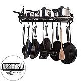 Infgreate Metal Kitchen Microwave Oven Holder Rack Shelf Cooking Utensils Hanger Organizer