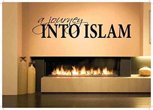 Decoración de la habitación de pared Vinilo de arte Vinilo de la etiqueta mural Un viaje al Islam Frase Palabra de cita islámica