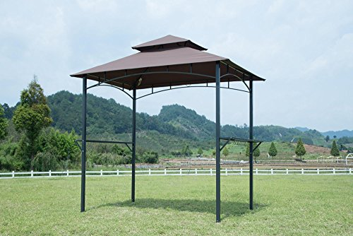 GOJOOASIS Barbecue Canopy Tent Outdoor 2-Tier BBQ Grill Gazebo Tent Coffee Shelter 8-Feet