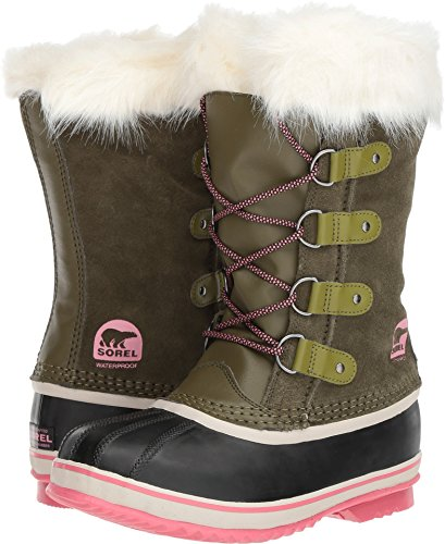 Sorel Youth Joan of Arctic Snow Boots, Nori/Winter Rose Size 6
