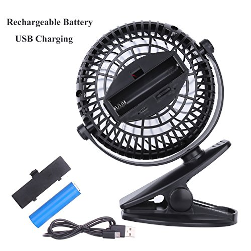 Battery Operated Desk Fan : Skygenius battery operated clip on mini desk fan black