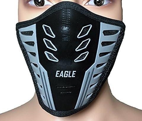 Air Flow Fleece Warm Half Face Cover Balaclava Protection Filter Rubber Mask