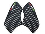 3D White Dots Gas Fuel Tank Traction Pad Anti Side Slip Protector For Ducati Monster 696 / 796 / 1100 / S / EVO 2009-2014