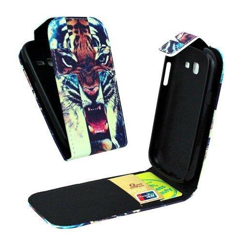 de caja del teléfono celular de negocios Shell cubierta del tirón Samsung Galaxy Trend Lite / GT-S7390 tigre