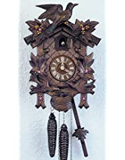 """12"""" Traditional Cuckoo Clock with Hand Painted Flowers"""