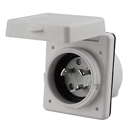 30 amp RV Power Inlet Box, White: Amazon ca: Tools & Home