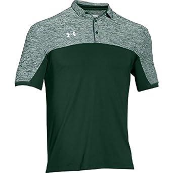 Under Armour pour homme Team Podium Polo de golf sur le dessus, couleurs assorties, 1276227 - Vert - Medium