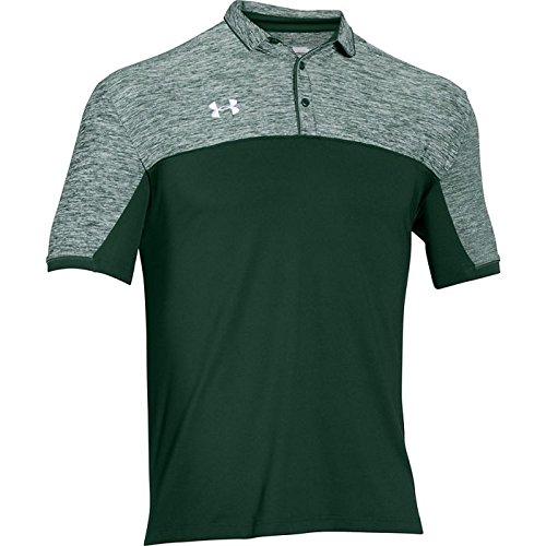 Under Armour メンズ用 チームポディウムゴルフウェア(ポロシャツ) トップス 豊富なカラーバリエーション 1276227 B01F9AB8TW Medium|グリーン/ホワイト グリーン/ホワイト Medium