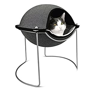 Hepper Pod Luxury Pet Bed for Cats and Small Dogs - Super Premium Pod, Interior Cat Bed Liner Pad, Soft-Touch Construction, Removable Top, Durable Steel Frame with Powder Coated Finish